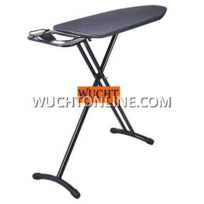 【WUCHT】Hotel Standard Big Ironing Board Hanger Large Wide Home Fold Down Leg Commercial Foldable - Black
