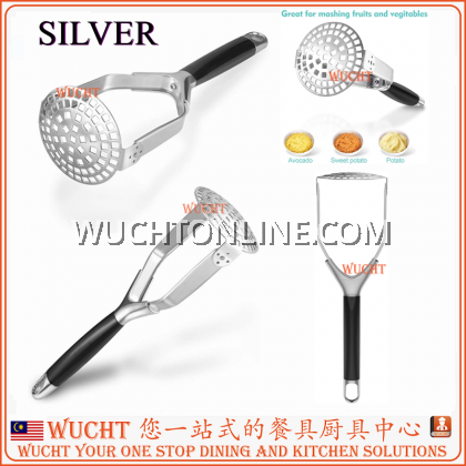 【WUCHT】Elegant Design Stainless Steel Potato Masher Foldable for Mashing Potatoes, Fruits and Cooked Vegetables - Mashed Potato Garlic Masher Hand Utensil / Food Masher Baby Food Kitchen Tools 压薯泥器