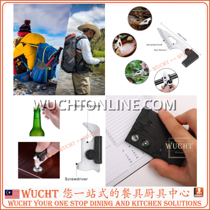 【WUCHT】10in1 Multi-purpose tool card Portable Pocket Credit Card Survival Knife Outdoor Camping Explorer Fishing Tools – Best Man gift