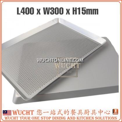 【WUCHT】Commercial Quality Aluminium Perforated Baking Tray / Aluminium Baking Sheet Pan 30x40x1.5cm