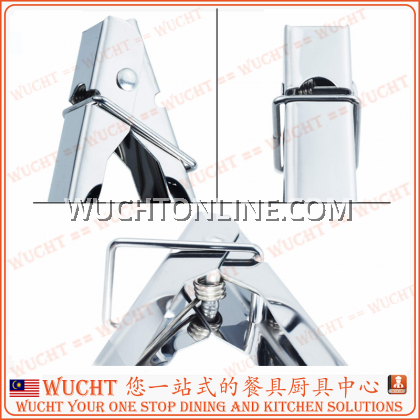 """【WUCHT】16"""" 12"""" 9"""" Stainless Steel Scallop Tong with Lock Clam Shell Food Service Tong with Sliding Ring 40cm 30cm 23cm"""
