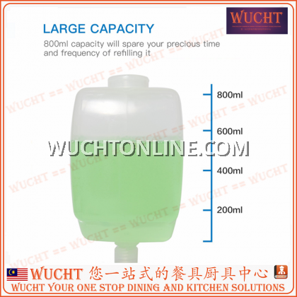 【WUCHT】SVAVO Soap Dispenser SVAVO PL-151051 Plastic Single Liquid Soap Dispenser Minimalist Style 800ml White Manual Soap Dispenser 手按给皂器
