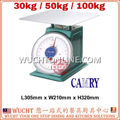 【WUCHT】CAMRY SCALE 30kg / 50kg / 100kg Mechanical Kitchen Scale With Stainless Steel Flat Top Timbang 秤 磅 30kg 50kg 100kg